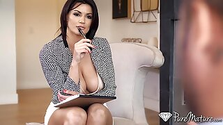 Buxom Sex Therapist TiTTiFucked before DoggyStyleReport this video