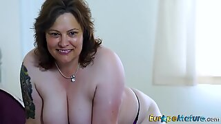 EuropeMaturE Busty Ladies Sexy Showoff Compilation