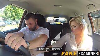 Driving examiner Katy Jayne fucking her big dicked student