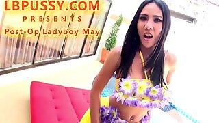 Post-Op Ladyboy May Toys And Fucks - May Thai