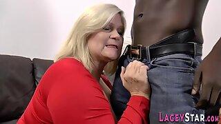 Slutty granny fucked hard by big black cock