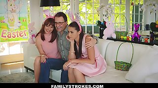 FamilyStrokes - Hot Teen Fucked By Easter Bunny Step Uncle