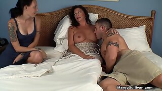 mom Suckling her son-in-law and daughter-in-law