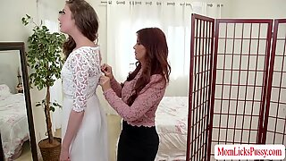 Hot lesbian sex before the wedding