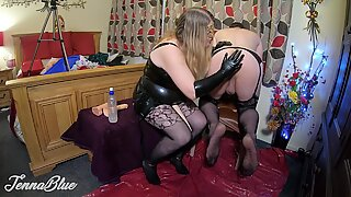 dominatrix wifey Opens His trampy Asshole for Hot Pegging and Fisting Session 4K