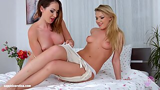 Hot Massage And Steamy Lesbian Lovemaking With Yasmin Scott And Lucy Heart On Sapphic Erotica