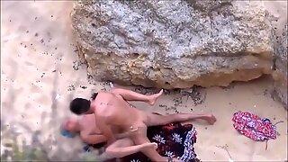 Busty MILF beach perfect boobs public cunt slut stranger