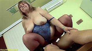 ugly bbw 72 years old mom deep fucked