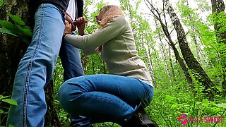 CUTE SCHOOLGIRL DOES PUBLIC BLOWJOB IN PARK - CUM IN MOUTH - AMATEUR TEEN NataSweet