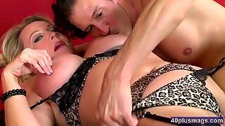 Mature Blonde Lisa Gets This Cock Hard - Lisa Cock
