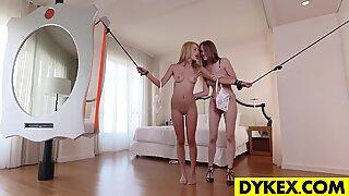 Beautiful lesbian girls playing