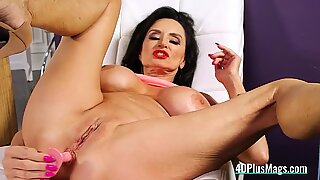 40PlusMags - Filthy Granny Plays With a Butt Plug