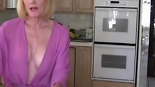 Interrupting Granny In The Kitchen With Sex
