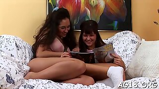 Lesbian babes like using sex toys