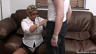 buxomy working women getting pounded from behind