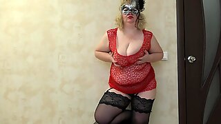 anal getting off, mature plus-size with superb boobs