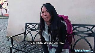 Public Agent Stranded Thai Facialised by Stranger