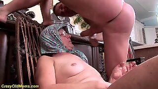86 years old mom extreme rough fucked