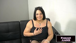 Chubby amateur trap enjoys solo analplay