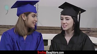Dads Prepare Daughters For College- Hazel Heart And Remi Jones