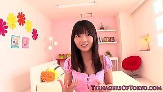 Nippon teen facialized after giving handjob