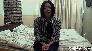 Blindfolded hairy Asian
