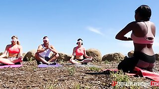 Olive and Danny having dip in an arousing meditation practice Report this video