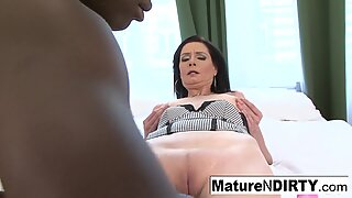Mature is anally satisfied by BBC!